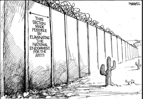 Border wall section